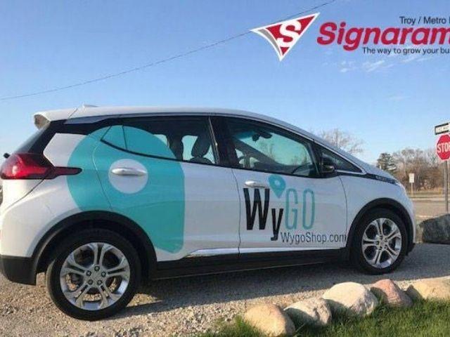 WyGo Wrap - Custom Vinyl Vehicle Wrap Back Right View - Bloomfield Hills, MI