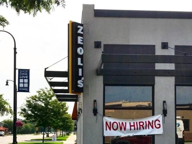Zeolis Sign - Blade sign Corner View - Clawson, MI