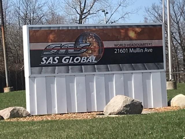 SAS Global Corporation Signs - Building Signs Monument Front - Warren, MI