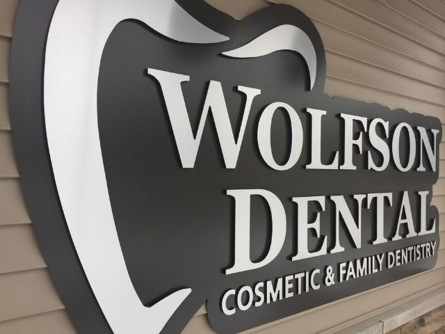 Wolfson Dental Sign - Wall Sign Front Left - Oak Park, MI