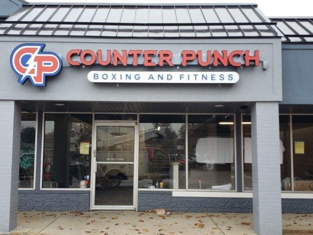 Counter Punch Boxing & Fitness Sign - Channel Letters with Capsual, Front View - Troy, MI