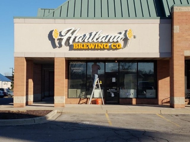 Harland Brewing Sign - Channel Letters, Front Full View - Hartland, MI