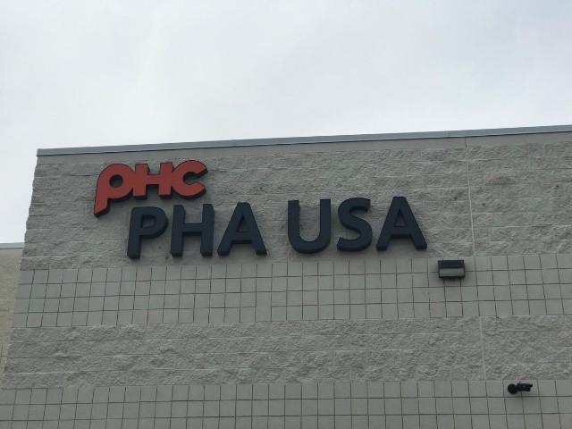 PHA USA Sign - Channel Letters Front of building - Auburn Hills, MI
