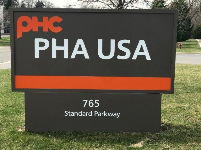 PHA USA Sign - Monument Cabinet Front View - Auburn Hills, MI