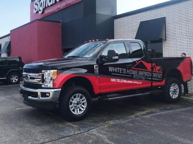 White's Home Improvement Wrap - Vehicle Wrap Left side view - Troy, MI