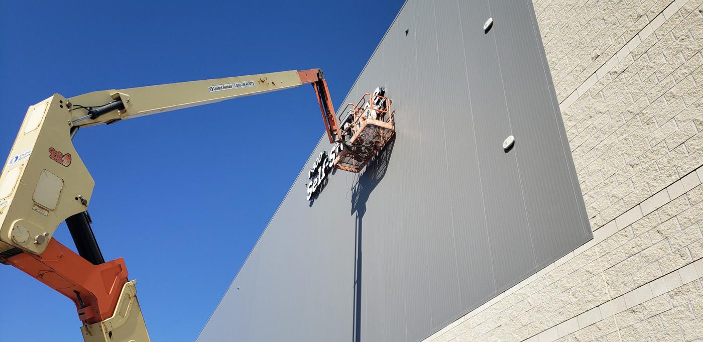 Building Sign Installation